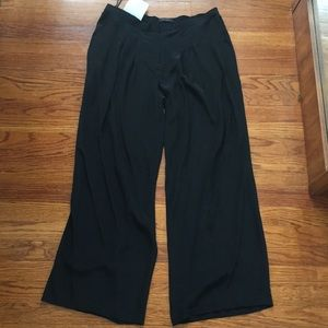 Gorgeous black silk Calvin Klein trousers
